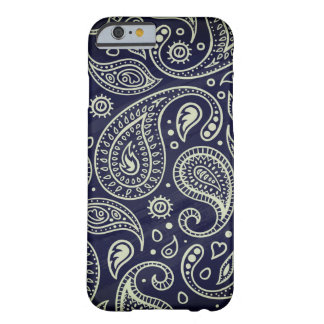 Trendy Stylish Indigo Blue Boho Paisley Pattern Barely There iPhone 6 Case