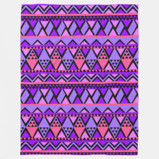 Trendy Stylish Tribal Geometric Pattern Fleece Blanket