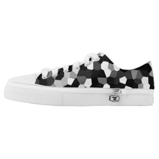 Trendy Stylish Unique Black/White Design Low-Top Sneakers