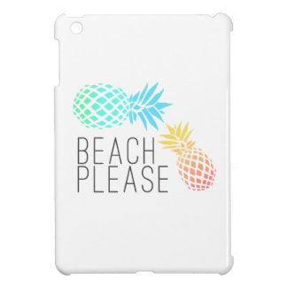 "trendy summer ""beach please"", colorful pineapple iPad mini case"