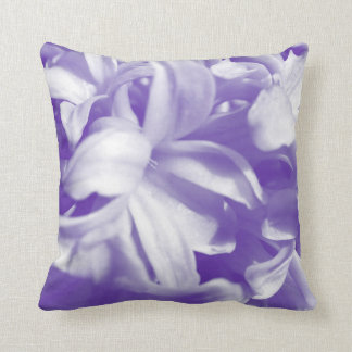 Trendy summer purple and white flowers throw pillow