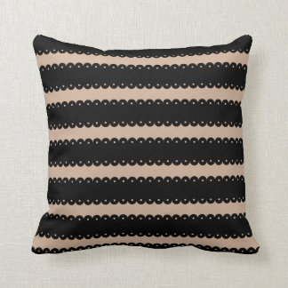 Trendy Tan and Black Stripe or ANY Stripe Color 34 Throw Pillow