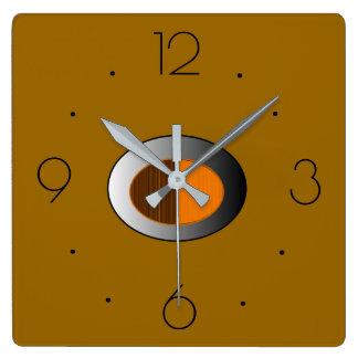 Trendy Tan with Silver centre> Kitchen Clocks