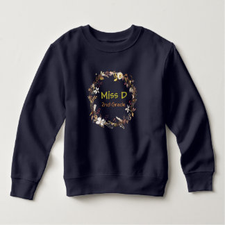 Trendy Teacher's  Monogram Sweatshirt
