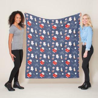 Trendy Teal Snowflakes Pattern Too Cozy To Care Fleece Blanket