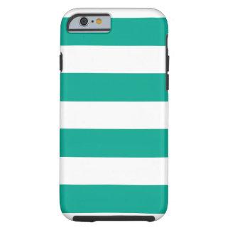 Trendy Teal Striped Pattern.ai Tough iPhone 6 Case