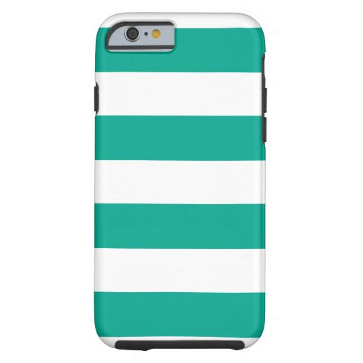 Trendy Teal Striped Pattern.ai iPhone 6 Case