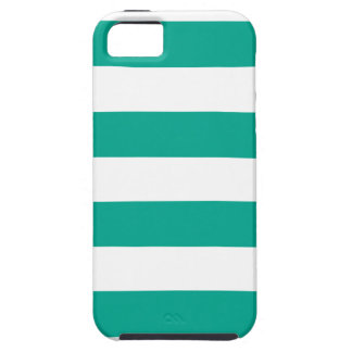 Trendy Teal Striped Pattern ai iPhone 5 Case