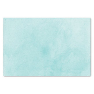Trendy Teal Watercolor Wash Tissue Paper