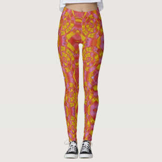 Trendy Tequila Sunrise Fitness Leggings
