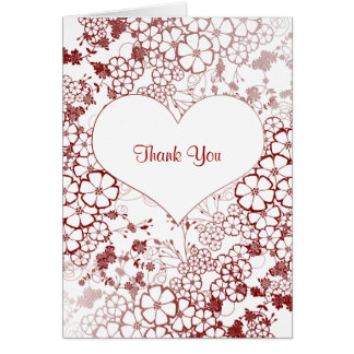 trendy thank you note card