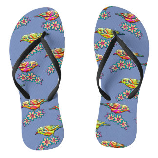 Trendy Three Birds Flip Flops