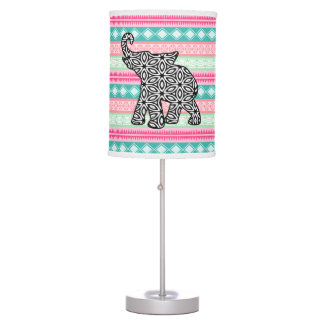 Trendy Tribal Aztec Elephant Lamp