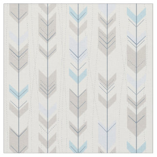 Trendy Tribal Blue Arrow Tail Pattern Fabric