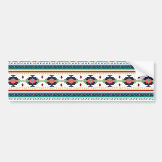 trendy tribal ethnic Navajo geometric pattern Bumper Sticker