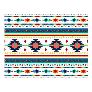 trendy tribal ethnic Navajo geometric pattern Postcard