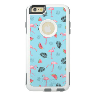 Trendy Tropical Flamingo & Watermelon Pattern OtterBox iPhone 6/6s Plus Case