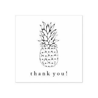 Trendy Tropical Pineapple Rubber Stamp