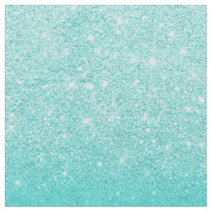 9101b45ba6e7 Trendy turquoise glitter ombre gradient sparkles fabric