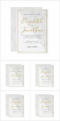 Trendy Typography | Chic Marble Wedding