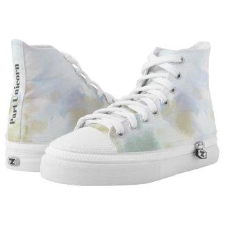 "Trendy Unicorn Watercolor ""Part Unicorn"" High Tops"
