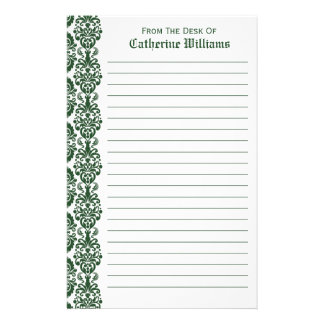 from the desk of stationery template