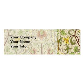 Trendy Vintage Decorator Floral Wallpaper Daffodil Pack Of Skinny Business Cards