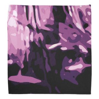 Trendy Violet Purple Pink Camo Abstract Pattern Bandana