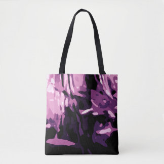 Trendy Violet Purple Pink Camo Abstract Pattern Tote Bag