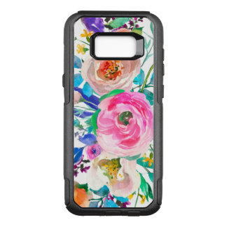 Trendy Watercolor Colorful Flowers OtterBox Commuter Samsung Galaxy S8+ Case