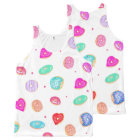 Trendy watercolor hand painted doughnuts food All-Over-Print tank top