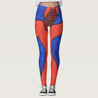 Trendy Watercolor Kenya Dancer Leggings