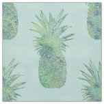 Trendy Watercolor Pineapple Pattern Fabric