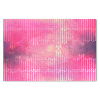 Trendy Watercolor Pink Vintage Arrow Pattern Tissue Paper