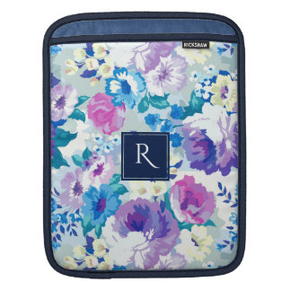 Trendy Watercolors Colorful Summer Flowers Collage iPad Sleeve