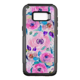 Trendy Watercolors Flowers Collage OtterBox Commuter Samsung Galaxy S8+ Case