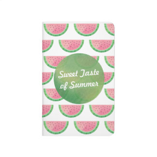 Trendy Watercolour Slice of Watermelon Journal