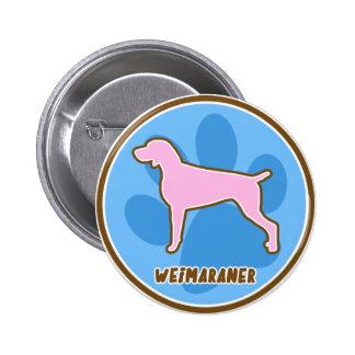 Trendy Weimaraner 2 Inch Round Button