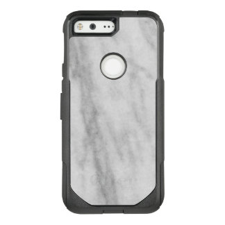 Trendy White and Grey Marble Look OtterBox Commuter Google Pixel Case