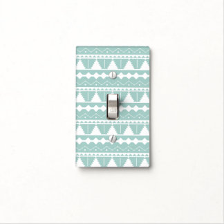 Trendy White Aztec Print Light Switch Cover