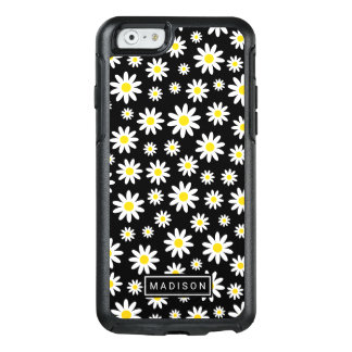 Trendy White Daisy Watercolor Floral Pattern OtterBox iPhone 6/6s Case