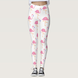 trendy white flamingo leggings new for summer 2017