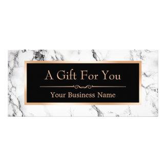 Trendy White Marble Look Gift Certificate Card Custom Rack Cards