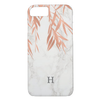 Trendy White Marble Monogram iPhone 8/7 Case