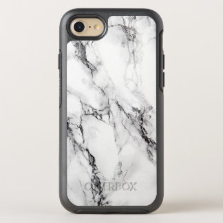 Trendy White Marble Stone OtterBox Symmetry iPhone 7 Case