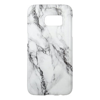 Trendy White Marble Stone Pattern Samsung Galaxy S7 Case