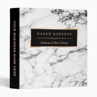 Trendy White Marble Stone Texture Modern Design Vinyl Binders