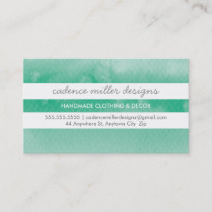 Green ombre business cards business card printing zazzle ca trendy wide stripe ombre watercolor emerald green business card reheart Gallery