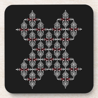 Trendy X Design Asian Inspired Modern Patterns Coaster