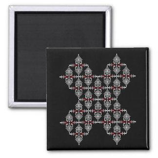 Trendy X Design Simple Modern Patterns Magnet